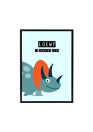 Dino poster 1 - met naam
