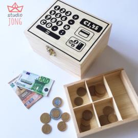 Speelgoed kassa sticker