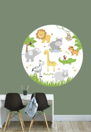 Muursticker jungle dieren - kinderkamer