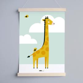 Poster kinderkamer giraffe