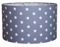 Lamp jongenskamer grijs met sterren