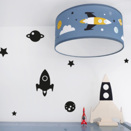 Kinderkamer plafondlamp ruimtevaart  | raket - planeten