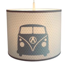 Kinderkamer lamp silhouet  VW bus met maantjes stof - diverse kleuren