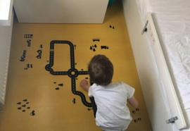 Autobaan sticky roads op vloer kinderkamer Kemen