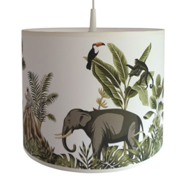 Lamp jungle kinderkamer - jungle dieren apen en olifant