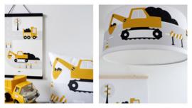 Kinderkamer aankleding en decoratie set - Voertuigen oker (met lamp)