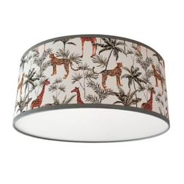 Plafondlamp jungle kinderkamer luipaard en giraffe