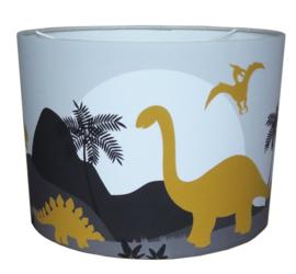 Kinderlamp dino kamer - lamp dinosaurus kinderkamer (oker - grijs)