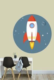 Muursticker ruimtevaart raket - kinderkamer