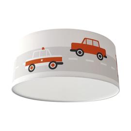 Kinderkamer plafondlamp voertuigen - terracotta rood (roest)
