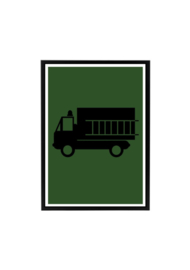 Poster kinderkamer brandweerauto (diverse kleuren)