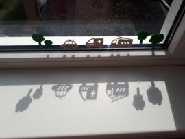 Stickers op raam kinderkamer Judith