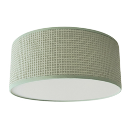 Plafondlamp wafelstof mint (old green)