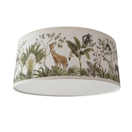 Plafondlamp jungle kinderkamer giraffe en olifant