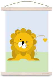 Poster leeuw kinderkamer jungle