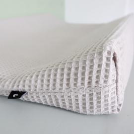 Aankleedkussenhoes babykamer wafelstof grijs - basic