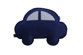 Auto knuffel (blauw-grijs)