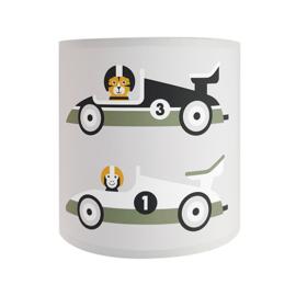 Wandlamp kinderkamer  raceauto- grijs