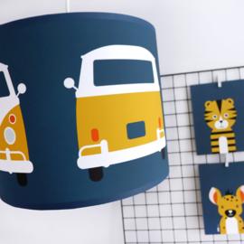 Lamp safari jungle bus kinderkamer - diverse kleuren
