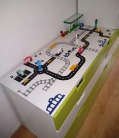 Autobaan + treinbaan bij van Frederiek