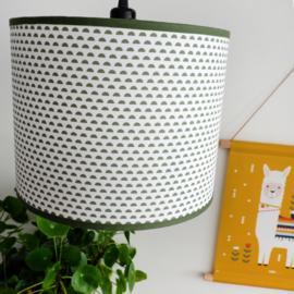 Lamp maantjes - olijf groen