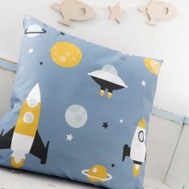 Kussen ruimtevaart kinderkamer - jeans blauw