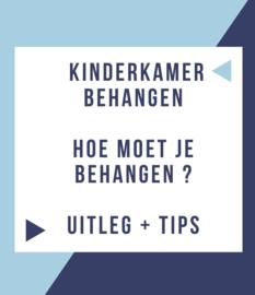 Kinderkamer behangen  |  Hoe moet je behangen? Uitleg en tips