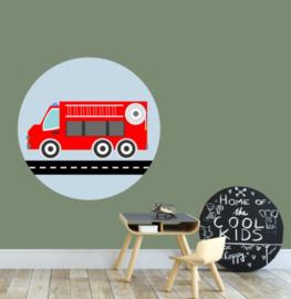 Muursticker kinderkamer - brandweer auto wagen