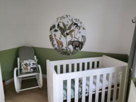 Jungle babykamer van Nadine