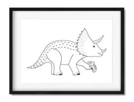 Poster dinosaurus kamer