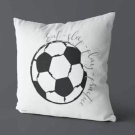 Kussen voor voetbalkamer - wit zwart