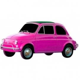 Strijkapplicatie Roze Fiat 500