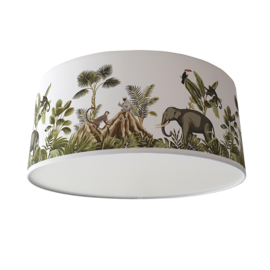 Plafondlamp jungle kinderkamer apen en olifant