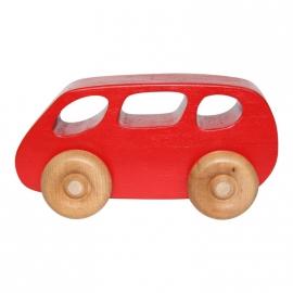 Houten speelgoed bus rood