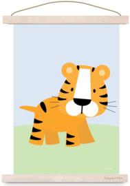 Poster tijger kinderkamer jungle