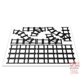 Sticker treinbaan wissels zwart