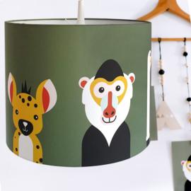Lamp safari jungle dieren thema kamer - olijfgroen