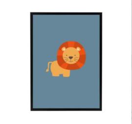 Poster kinderkamer - leeuw
