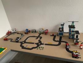 Lego tafel met wegdelen stickers