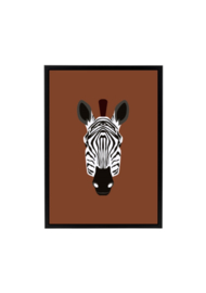 Poster jungle kamer - zebra
