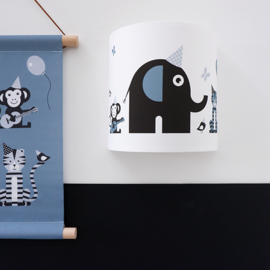 Wandlamp kinderkamer  dieren olifant - jeansblauw