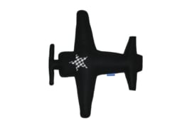 Vliegtuig knuffel zwart