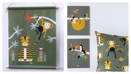 Kinderkamer aankleding en decoratie set - Jungle kamer olijfgroen