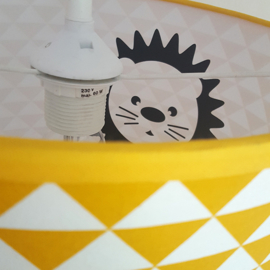 Kinderkamer lamp silhouet leeuw - diverse kleuren + stof prints