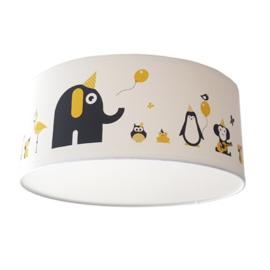 Lamp babykamer dieren okergeel zwart