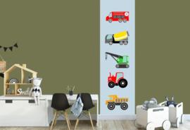 Behangstrook kinderkamer - voertuigen kleur