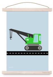 Poster jongenskamer kraanwagen