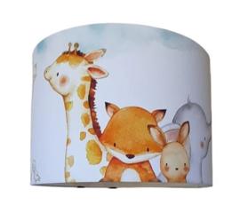 Lamp kiekeboe met lieve dieren - babykamer