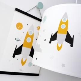 Lamp ruimtevaart kinderkamer  | raket - planeten