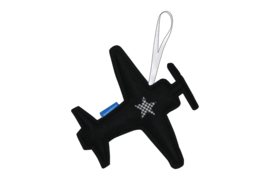 Vliegtuig hanger groot (zwart - wit)